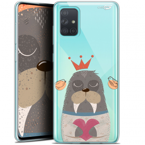 "Extra Slim Gel Samsung Galaxy A71 (A715) (6.7"") Case Design Sketchy Walrus"