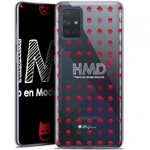 "Extra Slim Gel Samsung Galaxy A71 (A715) (6.7"") Case Petits Grains® HMD* Hero en Mode Discret"
