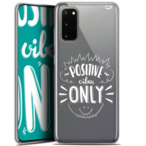 """Extra Slim Gel Samsung Galaxy S20 (6.2"""") Case Design Positive Vibes Only"""