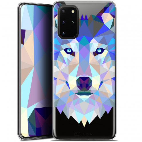 "Extra Slim Gel Samsung S20+ (6.7"") Case Polygon Animals Wolf"