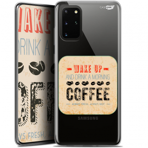 "Extra Slim Gel Samsung S20+ (6.7"") Case Design Wake Up With Coffee"