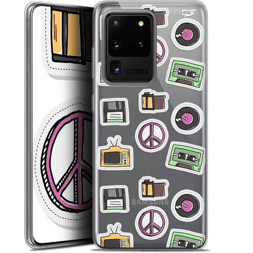 "Extra Slim Gel Samsung Galaxy S20 Ultra (6.9"") Case Design Vintage Stickers"