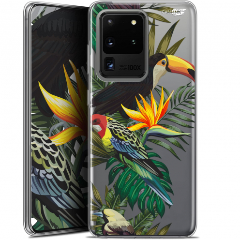 "Extra Slim Gel Samsung Galaxy S20 Ultra (6.9"") Case Design Toucan Tropical"