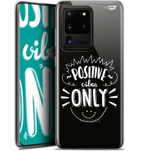 """Extra Slim Gel Samsung Galaxy S20 Ultra (6.9"""") Case Design Positive Vibes Only"""