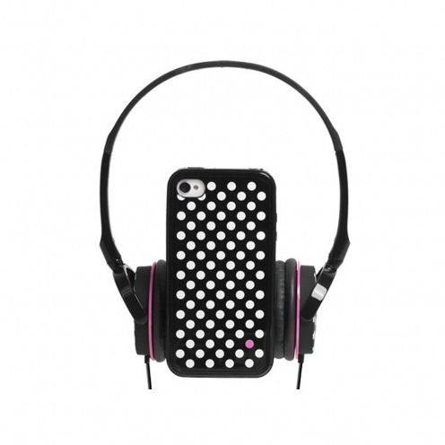 Headphones pack with bumper removable backpack Blueway ® So Dots Black edition