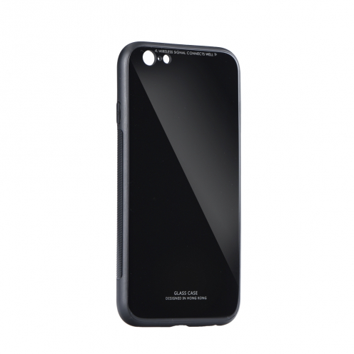 GLASS Case for iPhone 7 / 8 / SE 2020 black