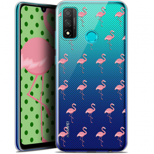 "Extra Slim Gel Huawei P Smart 2020 (6.2"") Case Pattern Les flamants Roses Dots"