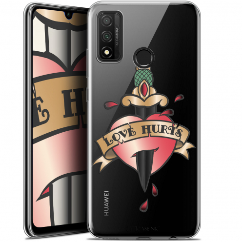 "Extra Slim Gel Huawei P Smart 2020 (6.2"") Case Tatoo Lover Love Hurts"