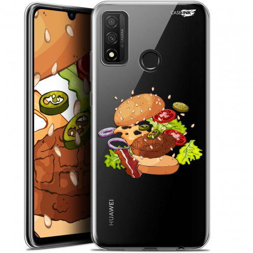 "Extra Slim Gel Huawei P Smart 2020 (6.2"") Case Design Splash Burger"