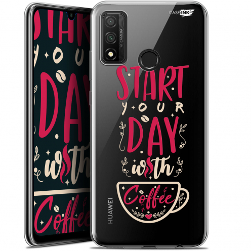 "Extra Slim Gel Huawei P Smart 2020 (6.2"") Case Design Start With Coffee"
