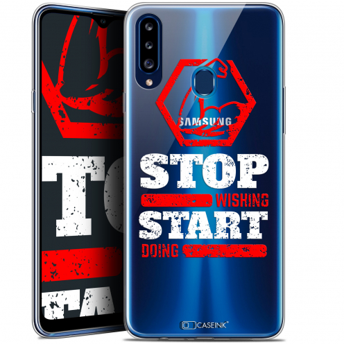"""Extra Slim Gel Samsung Galaxy A20s (6.5"""") Case Quote Start Doing"""