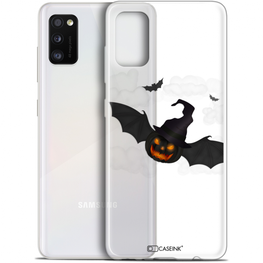 "Extra Slim Gel Samsung Galaxy A41 (6.1"") Case Halloween Chauve Citrouille"