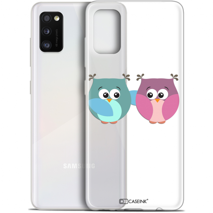 "Extra Slim Gel Samsung Galaxy A41 (6.1"") Case Love Hibous à deux"