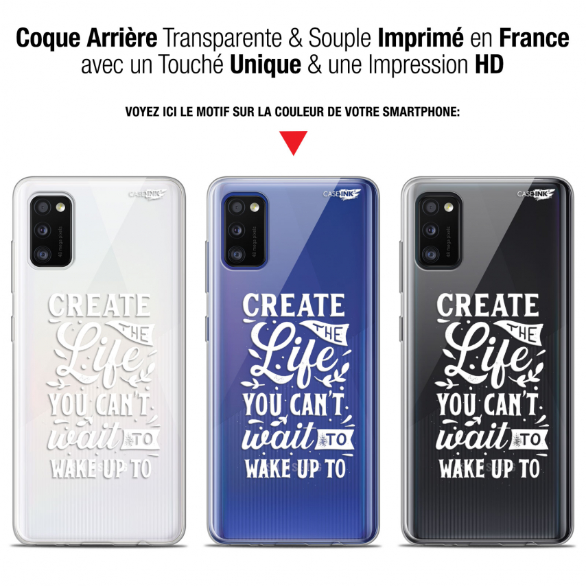 "Extra Slim Gel Samsung Galaxy A41 (6.1"") Case Design Wake Up Your Life"