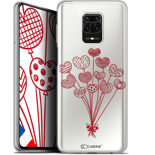 "Extra Slim Gel Xiaomi Redmi Note 9S (6.67"") Case Love Ballons d'amour"