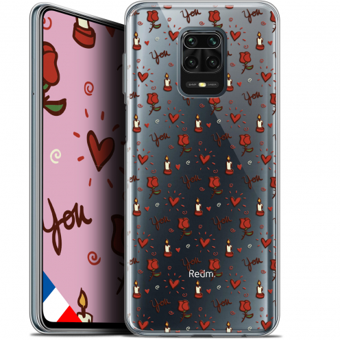 "Extra Slim Gel Xiaomi Redmi Note 9S (6.67"") Case Love Bougies et Roses"