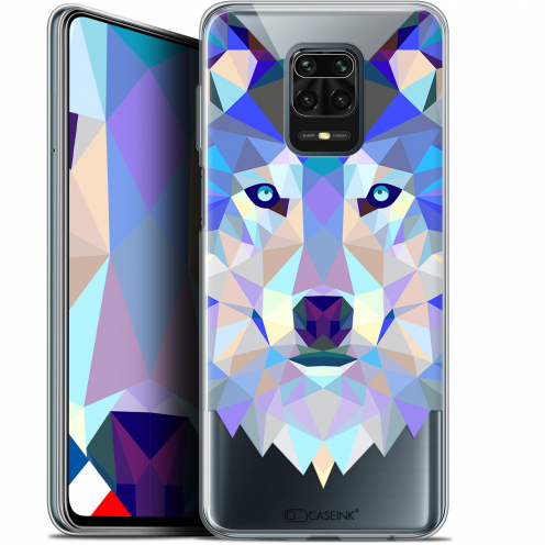 "Extra Slim Gel Xiaomi Redmi Note 9S (6.67"") Case Polygon Animals Wolf"