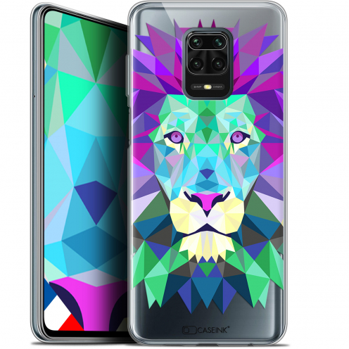 "Extra Slim Gel Xiaomi Redmi Note 9S (6.67"") Case Polygon Animals Lion"