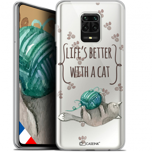 "Extra Slim Gel Xiaomi Redmi Note 9S (6.67"") Case Quote Life's Better With a Cat"