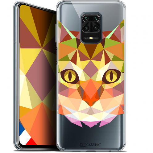 "Extra Slim Gel Xiaomi Redmi Note 9S (6.67"") Case Polygon Animals Cat"