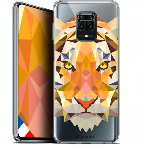 "Extra Slim Gel Xiaomi Redmi Note 9S (6.67"") Case Polygon Animals Tiger"