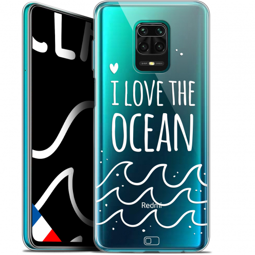 "Extra Slim Gel Xiaomi Redmi Note 9S (6.67"") Case Summer I Love Ocean"