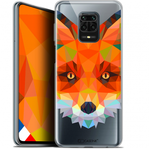 "Extra Slim Gel Xiaomi Redmi Note 9S (6.67"") Case Polygon Animals Fox"
