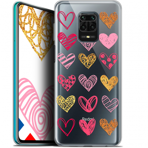"Extra Slim Gel Xiaomi Redmi Note 9S (6.67"") Case Sweetie Doodling Hearts"