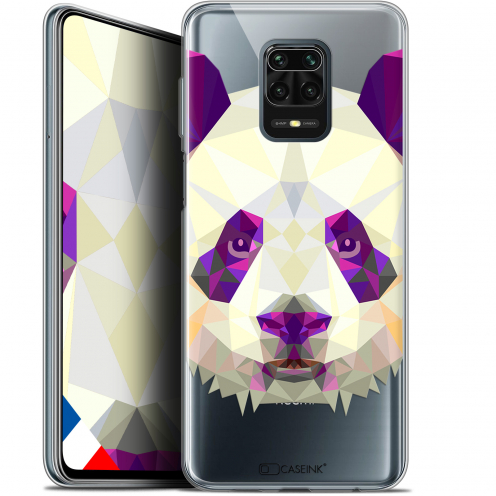 "Extra Slim Gel Xiaomi Redmi Note 9S (6.67"") Case Polygon Animals Panda"