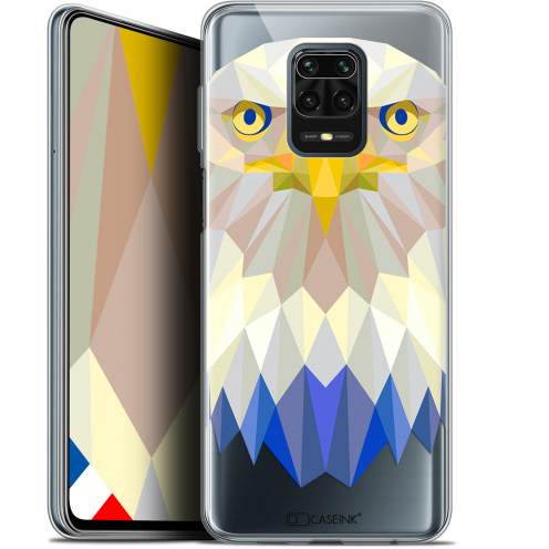 "Extra Slim Gel Xiaomi Redmi Note 9S (6.67"") Case Polygon Animals Eagle"