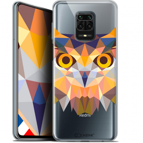 "Extra Slim Gel Xiaomi Redmi Note 9S (6.67"") Case Polygon Animals Owl"
