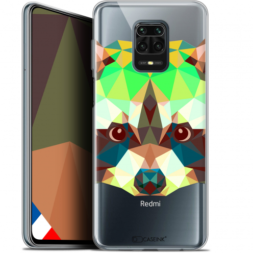 "Extra Slim Gel Xiaomi Redmi Note 9S (6.67"") Case Polygon Animals Raton Laveur"
