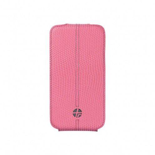 Genuine leather Textra ® Flippo Lizard Pink rotating flip case for iPhone 4/4S
