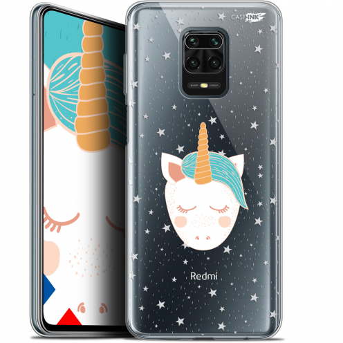 "Extra Slim Gel Xiaomi Redmi Note 9S (6.67"") Case Design Licorne Dors"