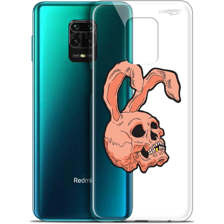"Extra Slim Gel Xiaomi Redmi Note 9S (6.67"") Case Design Rabbit Skull"