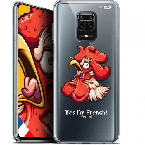 "Extra Slim Gel Xiaomi Redmi Note 9S (6.67"") Case Design I'm French Coq"
