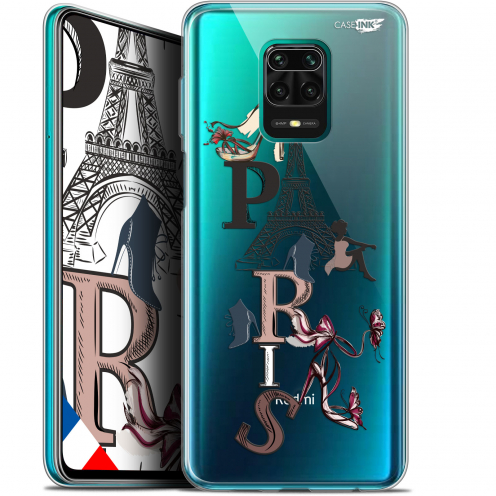 "Extra Slim Gel Xiaomi Redmi Note 9S (6.67"") Case Design Stylish Paris"