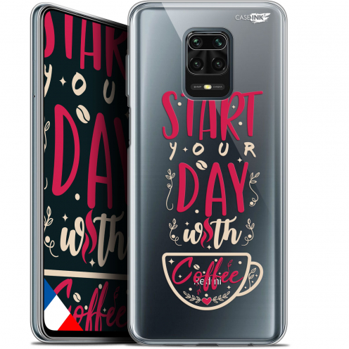 "Extra Slim Gel Xiaomi Redmi Note 9S (6.67"") Case Design Start With Coffee"