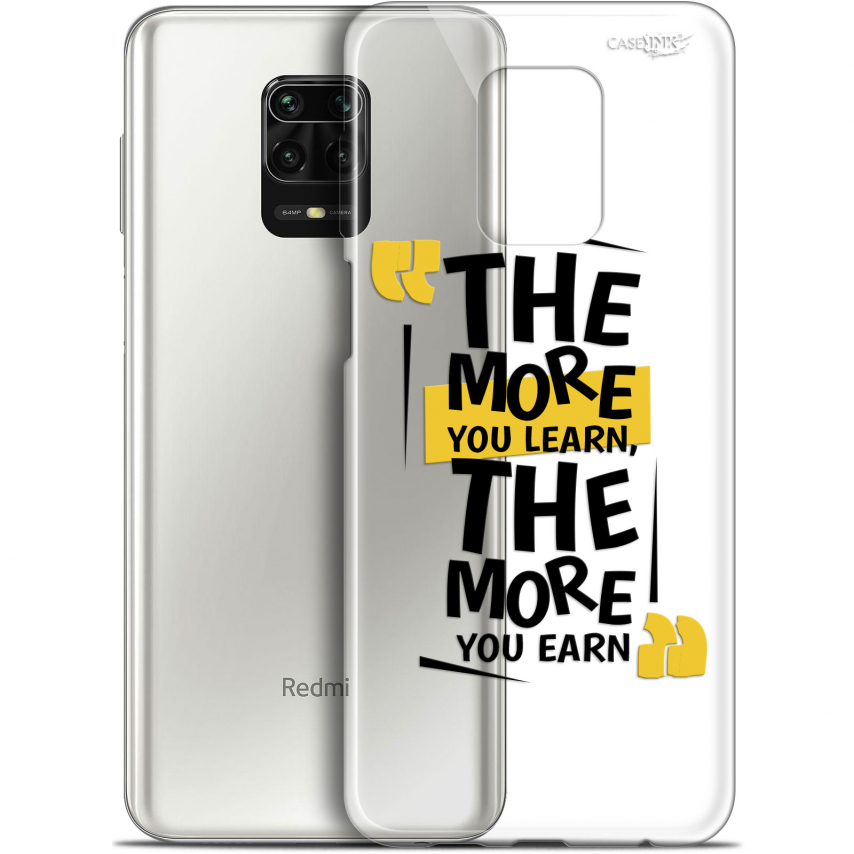 "Extra Slim Gel Xiaomi Redmi Note 9S (6.67"") Case Design The More You Learn"