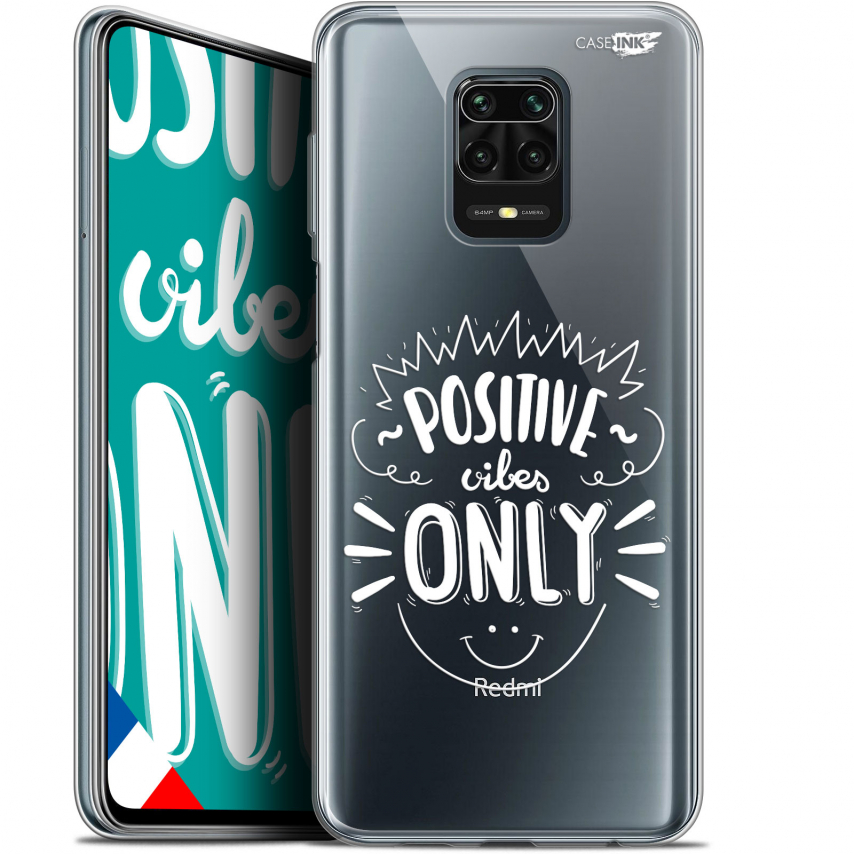 "Extra Slim Gel Xiaomi Redmi Note 9S (6.67"") Case Design Positive Vibes Only"
