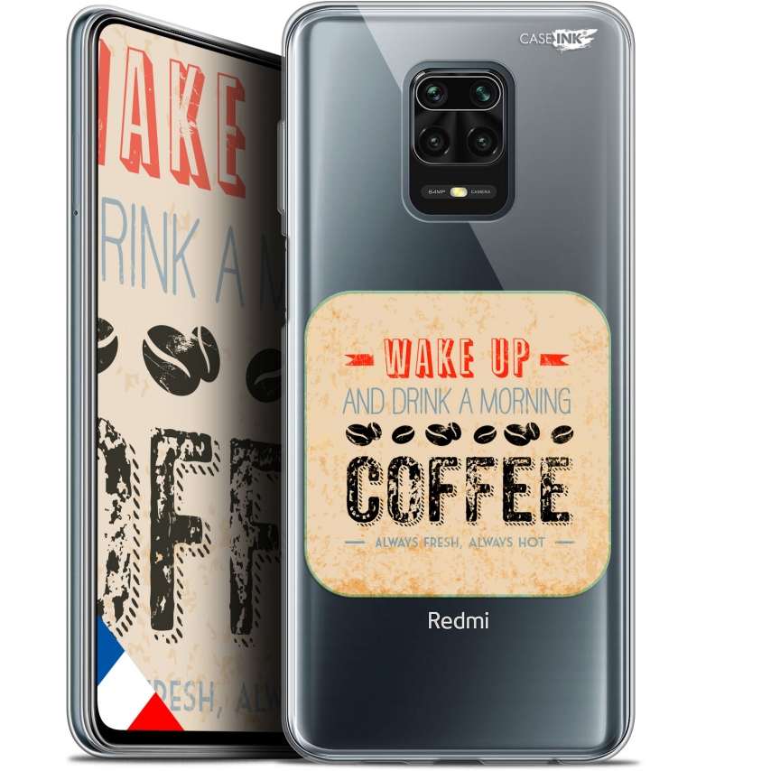 "Extra Slim Gel Xiaomi Redmi Note 9S (6.67"") Case Design Wake Up With Coffee"