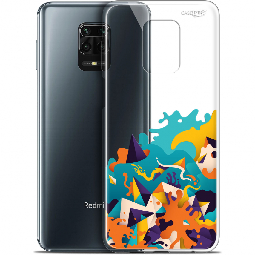 "Extra Slim Gel Xiaomi Redmi Note 9S (6.67"") Case Design Les Vagues"