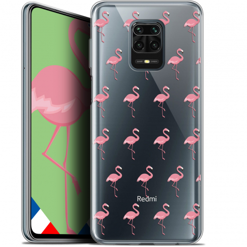 "Extra Slim Gel Xiaomi Redmi Note 9 PRO (6.67"") Case Pattern Les flamants Roses"