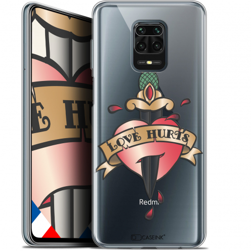 "Extra Slim Gel Xiaomi Redmi Note 9 PRO (6.67"") Case Tatoo Lover Love Hurts"