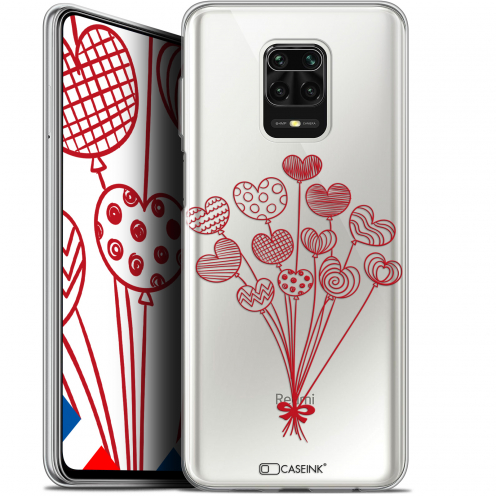 "Extra Slim Gel Xiaomi Redmi Note 9 PRO (6.67"") Case Love Ballons d'amour"