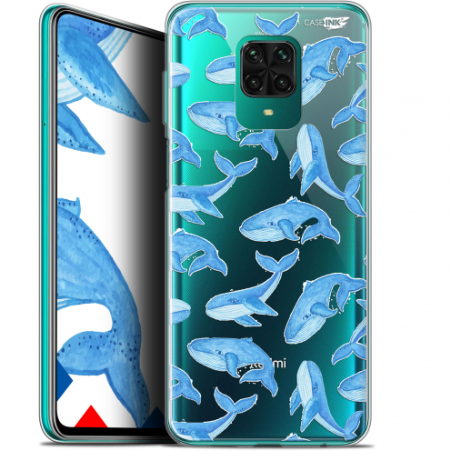 "Extra Slim Gel Xiaomi Redmi Note 9 PRO (6.67"") Case Design Baleines"