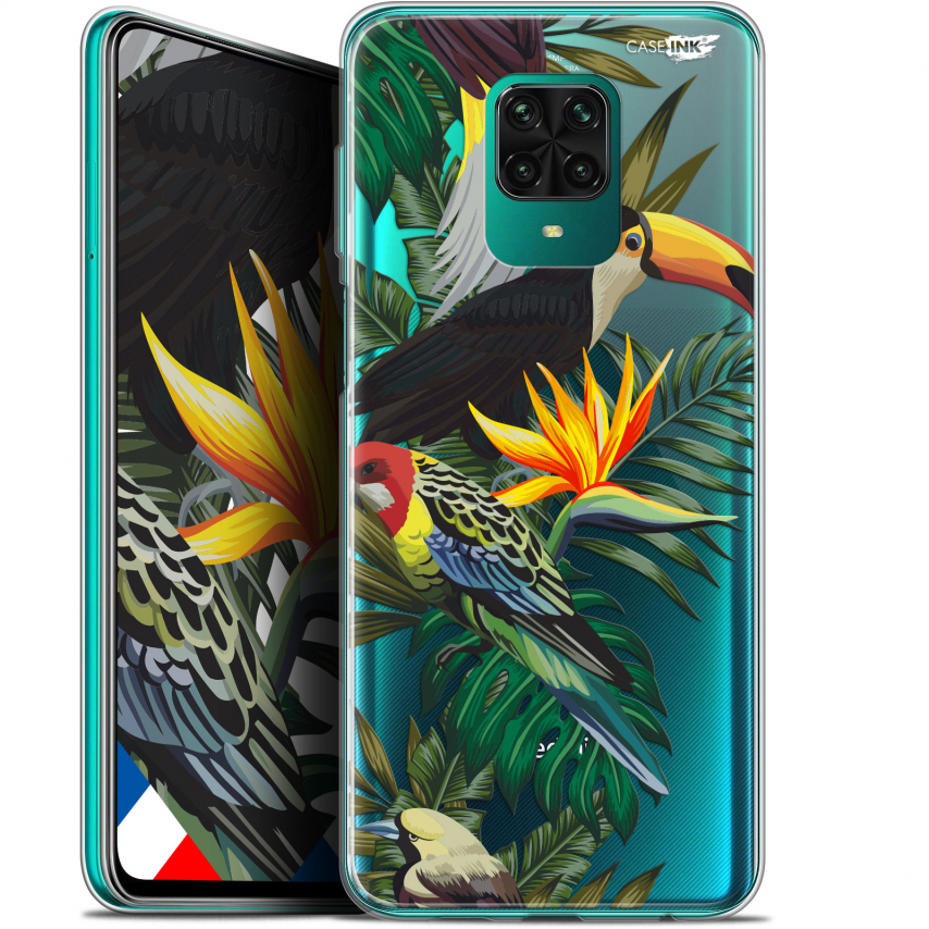 "Extra Slim Gel Xiaomi Redmi Note 9 PRO (6.67"") Case Design Toucan Tropical"