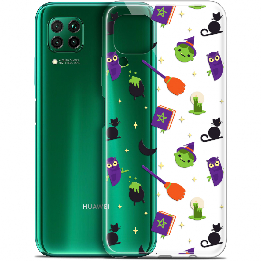 "Extra Slim Gel Huawei P40 Lite (6.4"") Case Halloween Witch Potter"