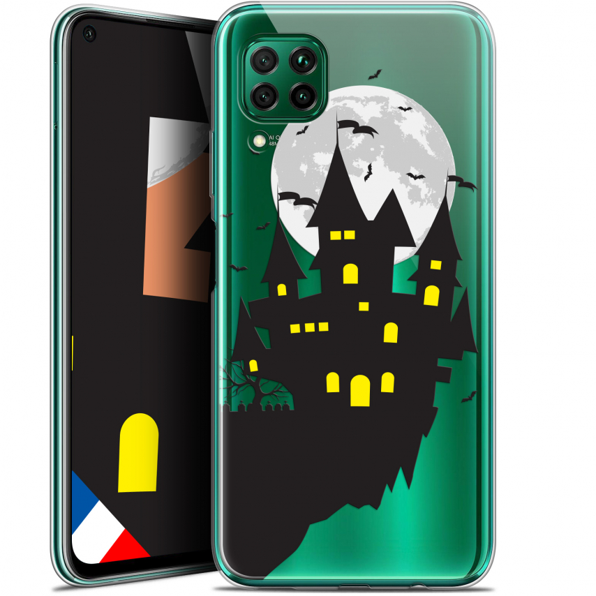 "Extra Slim Gel Huawei P40 Lite (6.4"") Case Halloween Castle Dream"