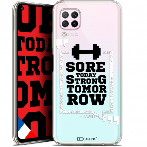 """Extra Slim Gel Huawei P40 Lite (6.4"""") Case Quote Strong Tomorrow"""